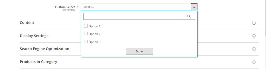 category multi select