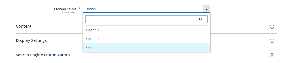 category single select